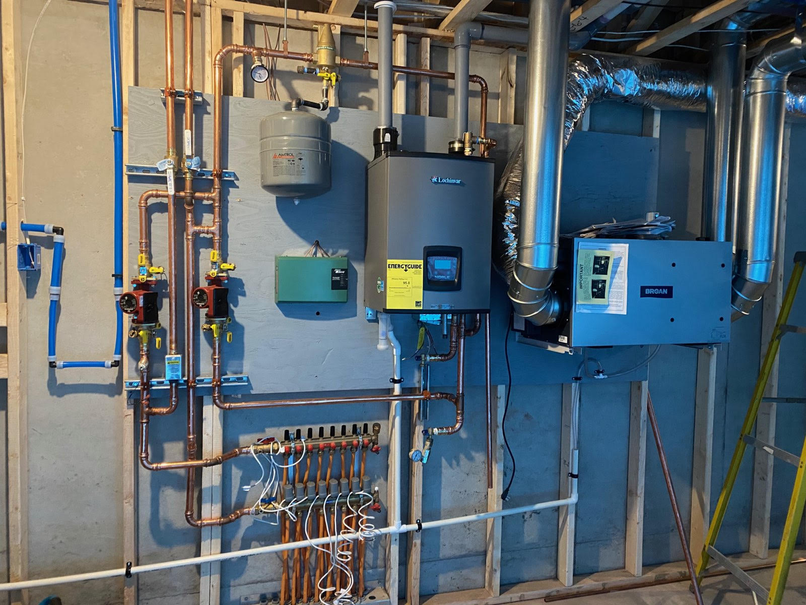 Infloor heat and air exchange system