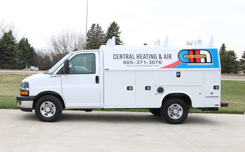 Central Heating & Air van